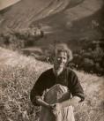 AGRICULTURE dame dans champs de blés psp