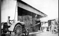 AGRICULTURE Moissonneuse lieuse Marsanne vers 1940 ADD