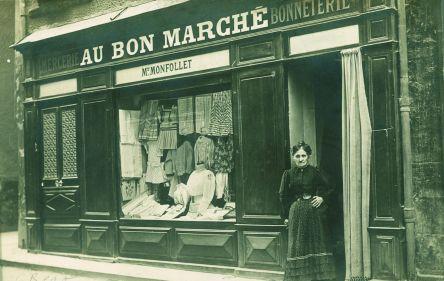 COMMERCE magasin au bon marché bon f.poster