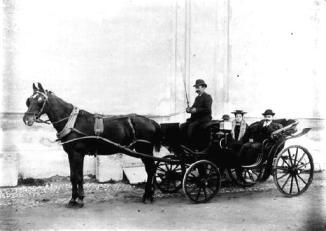 transport calèche girard 1905 dieulefit